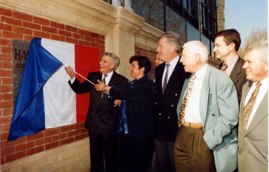 Inauguration avec le maire de Narbonne Me Hubert MOULY et Mme Elisabeth LAURE