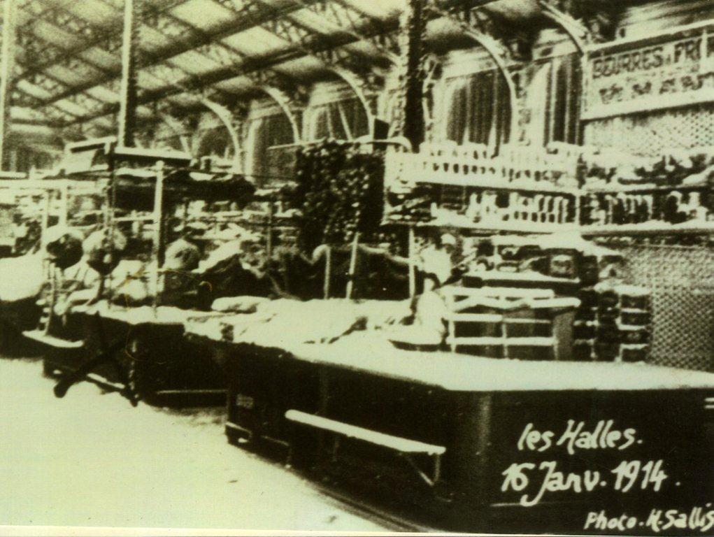 Scene interieure halles de Narbonne Halles 16 janv 1914