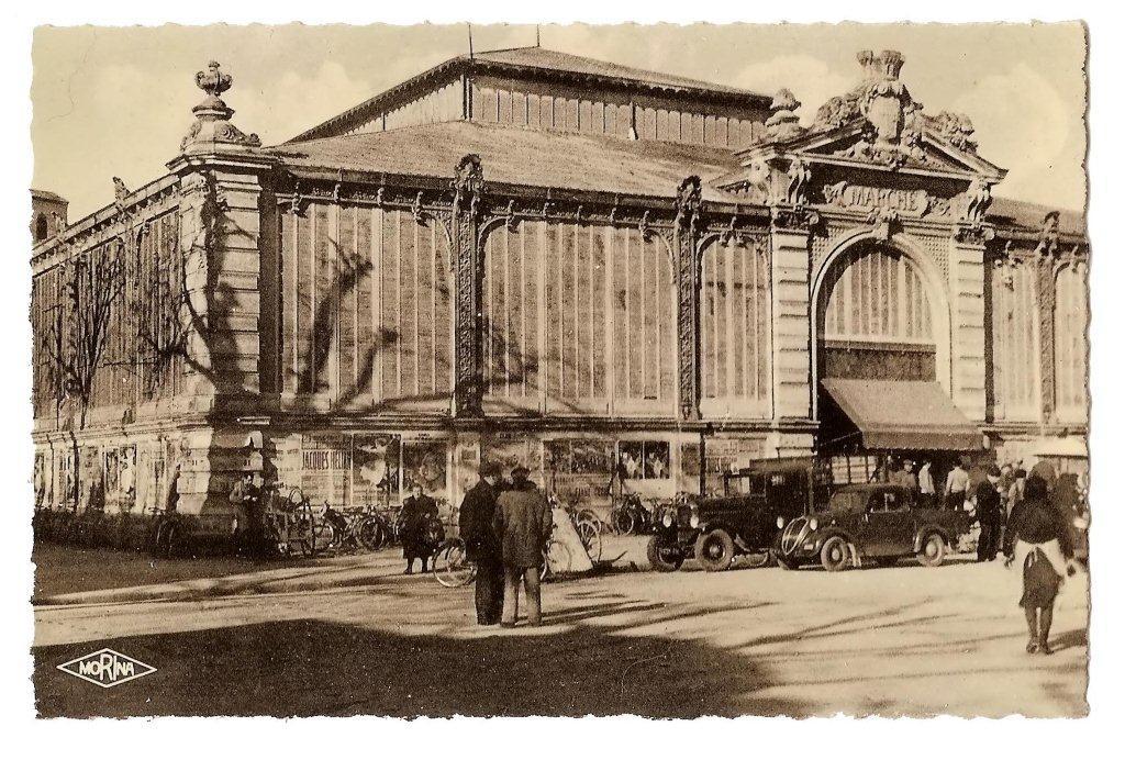 halles de Narbonne façade exterieure vers 1941