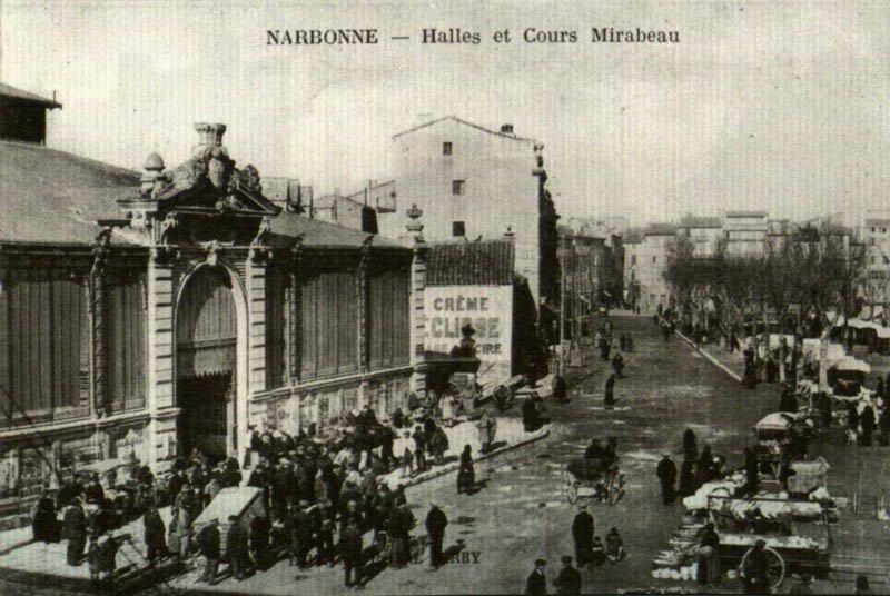 Les halles de Narbonne et le marché