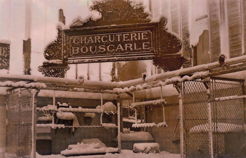 Scene interieure halles de Narbonne bouscarle neige