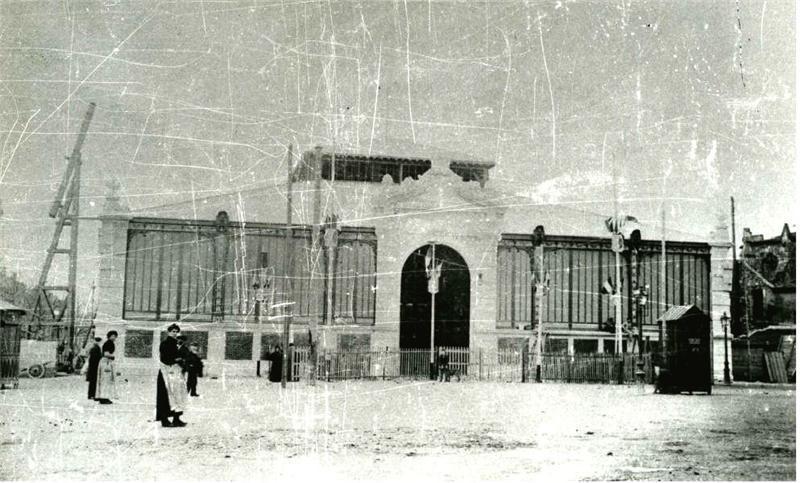 halles de Narbonne 1900 construction 3