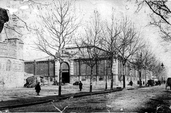halles de Narbonne façade exterieure vers 1916
