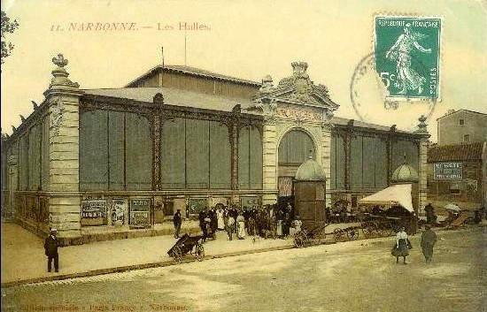 facade exterieure halles de Narbonne vers 1921 C