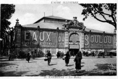 halles de Narbonne façade exterieure vers 1940