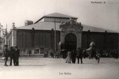 facade exterieure halles de Narbonne vers 1911