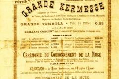 Programme Kermesse 1900 aux Halles de Narbonne