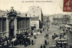 facade exterieure halles de Narbonne vers 1926