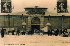 facade exterieure halles de Narbonne vers 1906