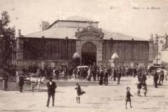 facade exterieure halles de Narbonne vers 1920