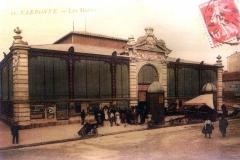 facade exterieure halles de Narbonne vers 1924