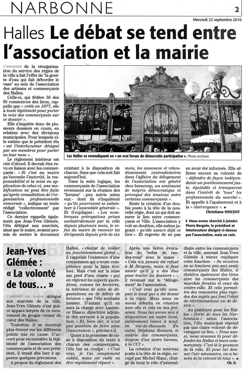 Revendications-halles-mairie-midilibre-22-09-2010