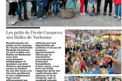 Midi Libre enfants ecole casanova coursan 14-10-2016