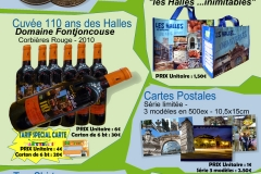 produits_derives_Halles_narbonne-tee-shirt_casquette_cuvee-110ans_jeton_monnaie_de_paris_cabas