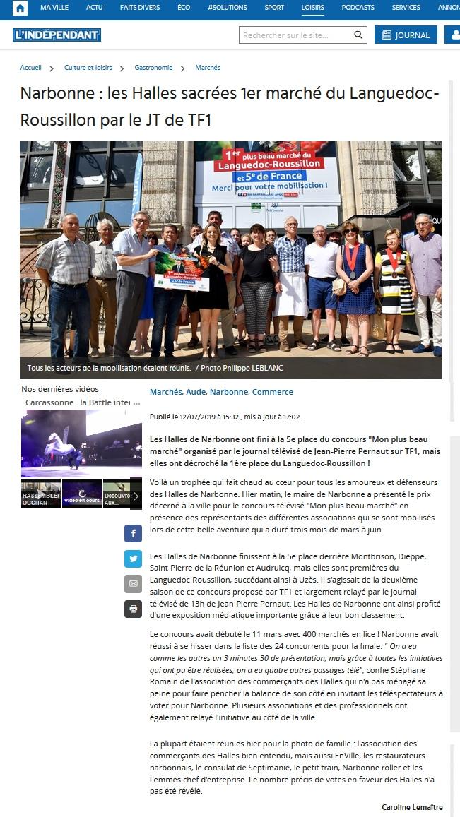 plus_beau_marche_de_france_TF1_2019_halles_narbonne_independant