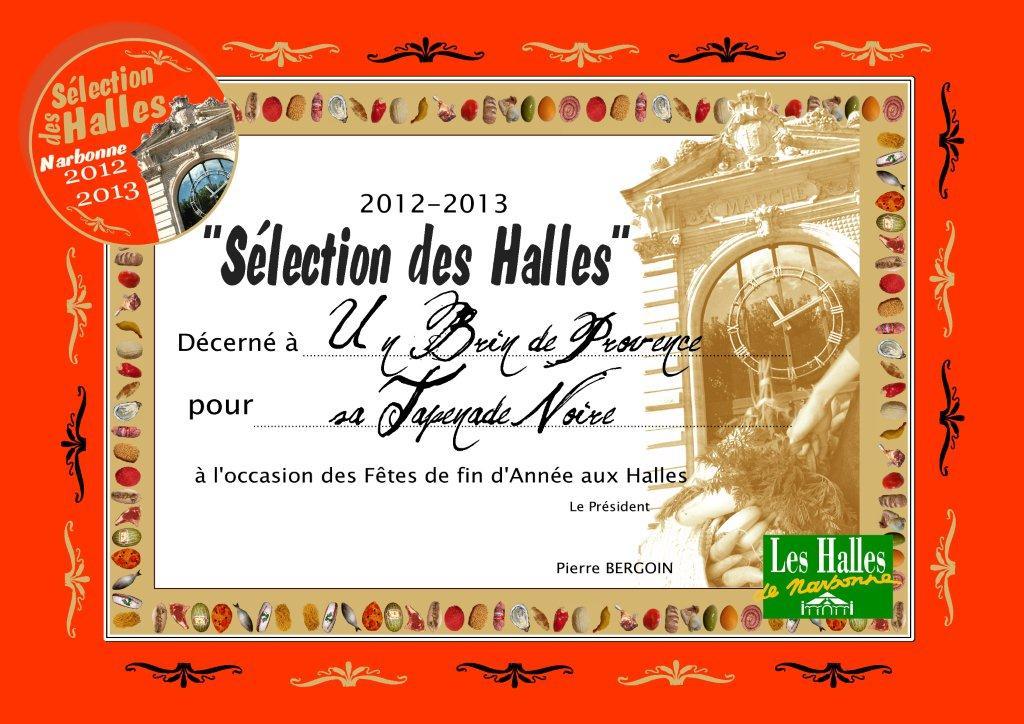 Selection_des_halles_de_narbonne-2012-2013-un_brin_de_provence_sabin-Tapenade-Noire
