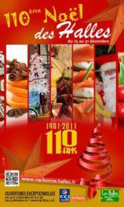 110eme noel des halles de narbonne affiche 2011