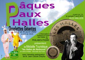 paques_halles_narbonne_2012_jeanclaude_dreyfus_omelette_geante_medaille_touristique_monnaie_de_paris_philaboutique_pinpin_cocotte