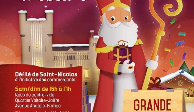 Saint Nicolas en Visite aux Halles