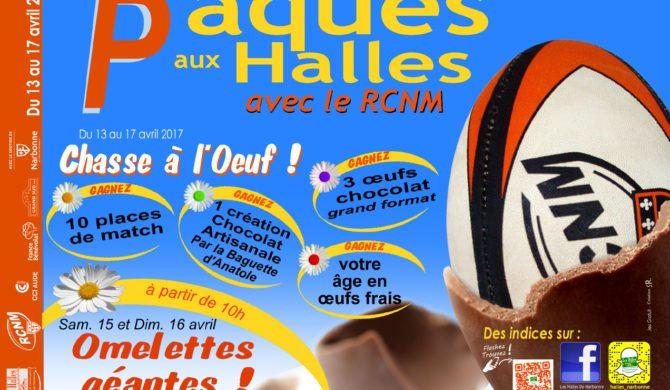 Pâques aux Halles de Narbonne : le RCNM casse les œufs avec les commerçants !