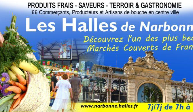 Un dépliant Touristique pour les Halles de Narbonne