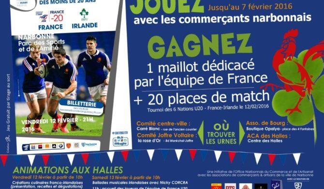 Rencontre France Irlande – Tournoi VI Nations 2016 U20